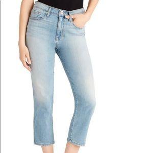 Ella Moss High-waist Straight Cropped Jeans